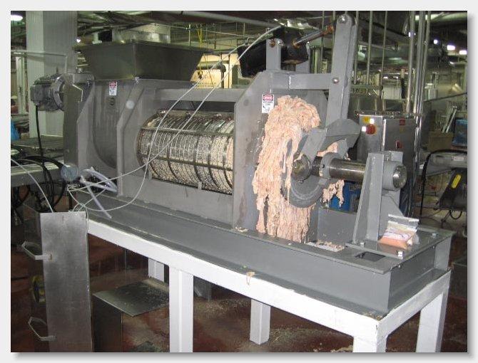 Испытание на куриных субпродуктах пресс vincent KLP-16