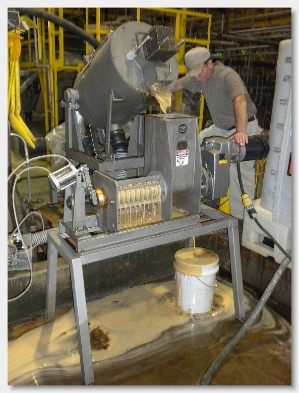 испытание отжима волоконных фильтрах пресс сепаратор Vincent CP-4